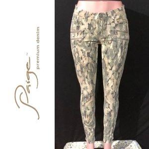 NWOT PAIGE DENIM Edgemont Camo Zip Skinny Jeans